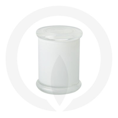 Danube Medium Base and Flat Lid Transparent White (Packed with lid on)