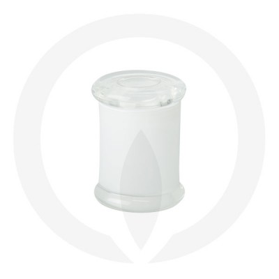 Danube Small Base and Flat Lid Transparent White (Packed with lid on)