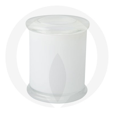 Danube XL Base and Flat Lid Transparent White (Packed with lid on)