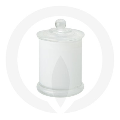 Danube Medium Base and Knob Lid Transparent White (Packed with lid on)