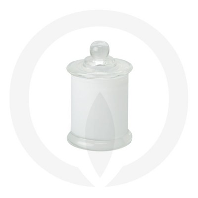 Danube Small Base and Knob Lid Transparent White (Packed with lid on)