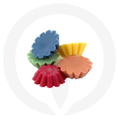 Tart shaped melts in different colours