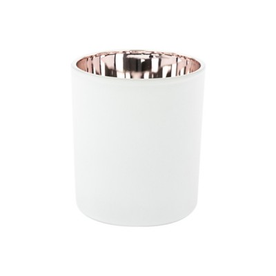Oxford Large Base Electroplated Rose Gold & White