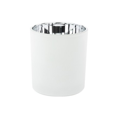 Oxford Large Base Electroplated Silver & White