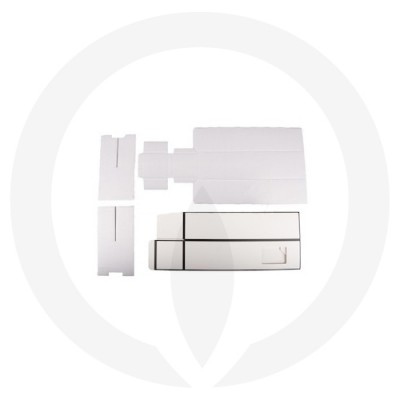Flattened Cubic Diffuser Box (White with Black Edge)