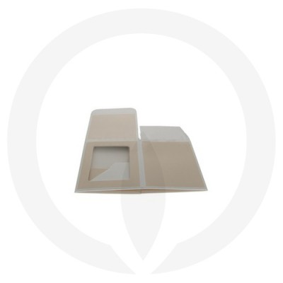 Flattened Danube Large Flat Lid Candle Box with Window (Beige)