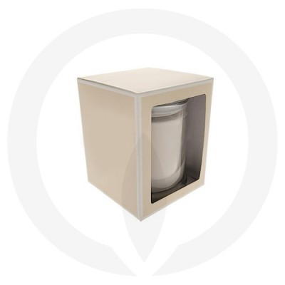 Danube Medium Flat Lid Candle Box with Window (Beige)