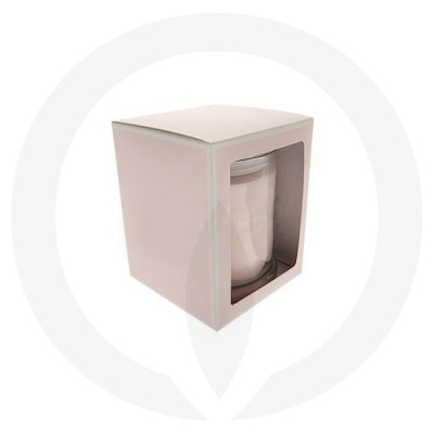 Danube Medium Flat Lid Candle Box with Window (Pink)