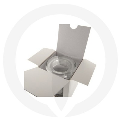 Open Danube Small Flat Lid Candle Box with Window (White)