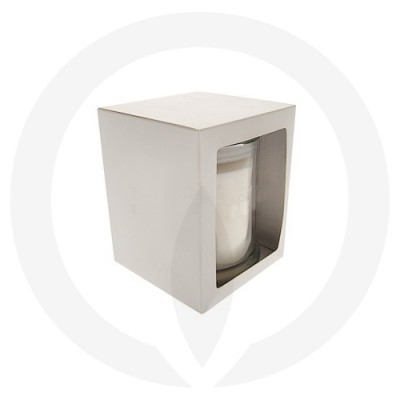 Danube Medium Candle Box with window - White