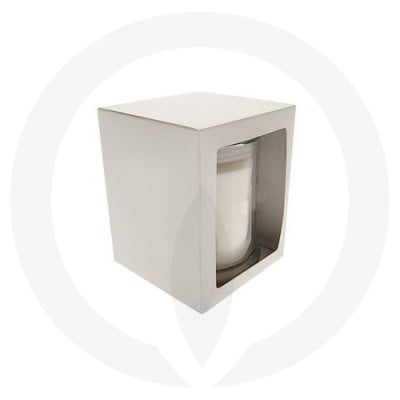 Danube XL Candle Box With Window - White