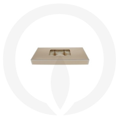 19mm Tealight Box - 10 Pack (Beige) side aerial view