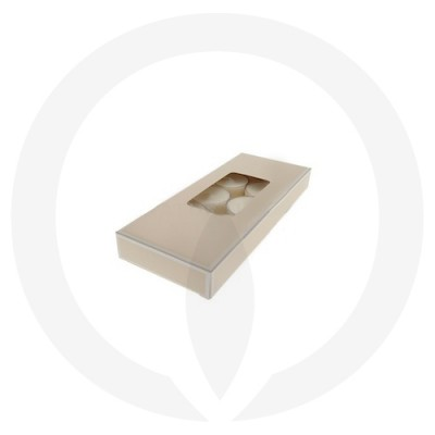 19mm Tealight Box - 10 Pack (Beige)