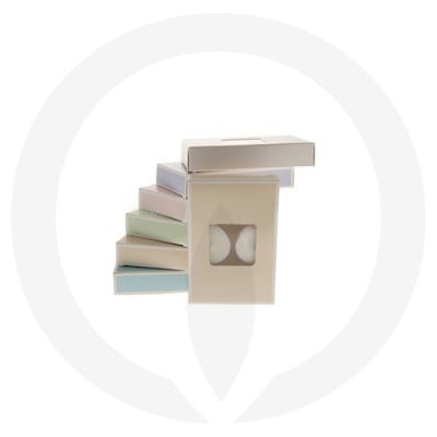 19mm Tealight Box - 6 Pack (Beige) with assorted box colours