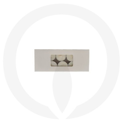 19mm Tealight Box - 10 Pack (White) aerial view