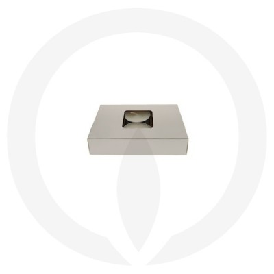 25mm Tealight Box - 6 Pack (White) side view