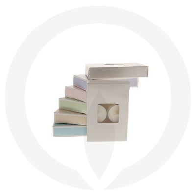 25mm Tealight Box - 6 Pack (White) with assorted box colours