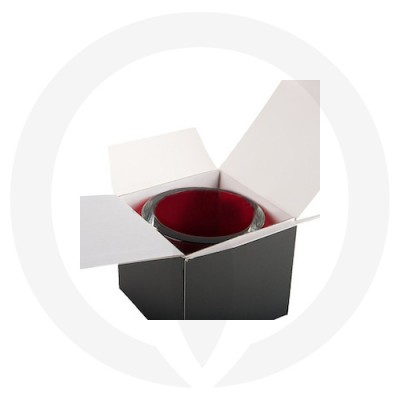 Velino Large Candle Box No Window (Black) shown with candle jar inside