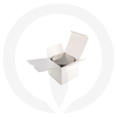 Velino Large Candle Box No Window (White) shown with lidded candle glassware inside