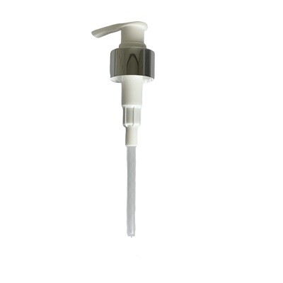 Soap Pump - Chrome with White