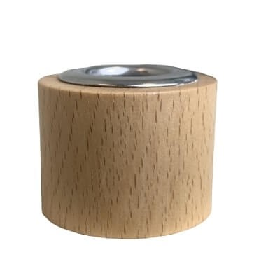 Straight Diffuser Lid - Beechwood Natural Timber with Stainless Steel Insert