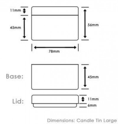 Large Copper Tin Dimensions
