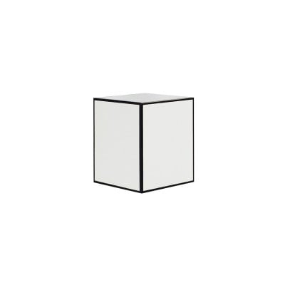 Small Candle Box No Window (White with Black Edge)