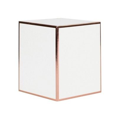 Large Candle Box No Window (White with Rose Gold Edge)