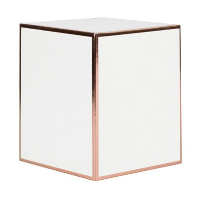 XL Candle Box No Window (White with Rose Gold Edge)