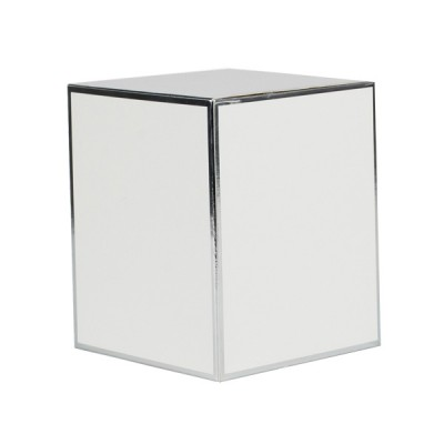 Large Candle Box No Window (White with Silver Edge)
