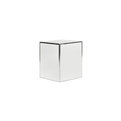 Small Candle Box No Window (White with Silver Edge)