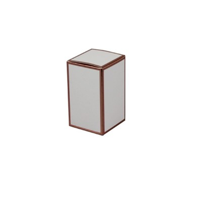 Danube Small Knob Lid Candle Box No Window (White with Rose Gold Edge)