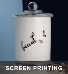 Check out our custom screen printing! | custom candle jars