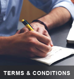 View our terms and conditions!