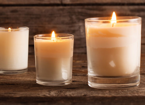 Wet spots soy candles