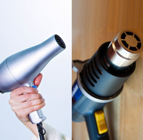 Hairdryer and heat gun